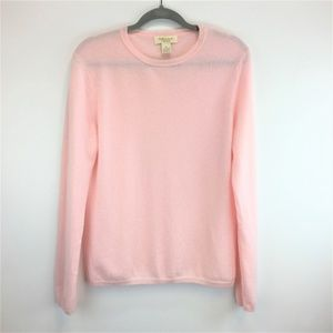 PECK & PECK XL Pink Cashmere Sweater NEW